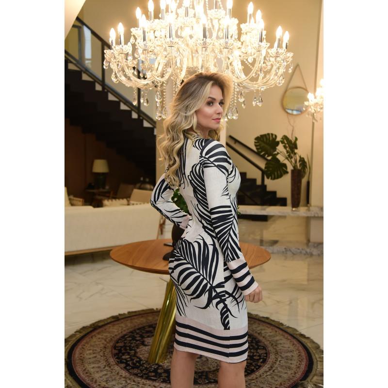 9eecae04d Vestido Estampado Maria Amore