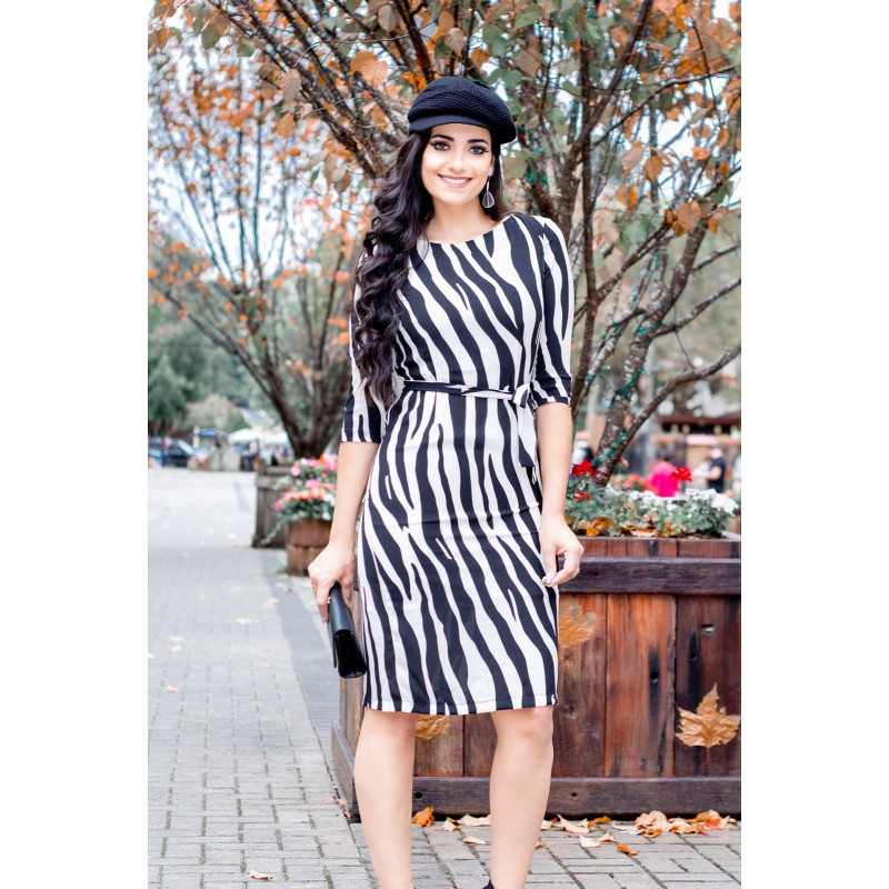 a79f60830d Vestido Print Zebra Raje Jeans