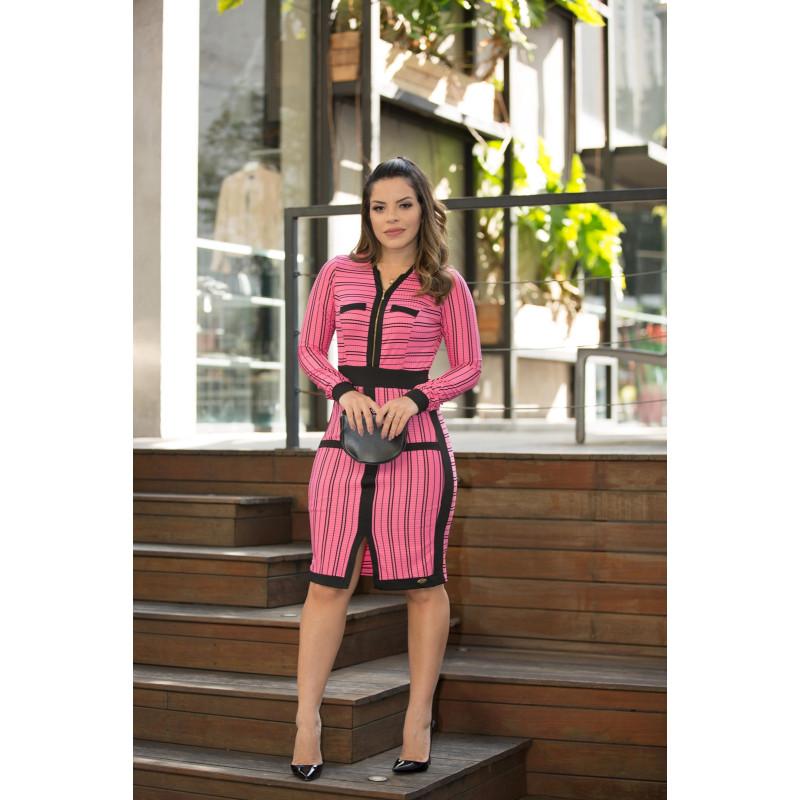 a729618f2 Vestido Tubinho com Zíper Luciana Pais