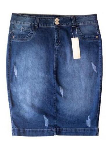 Saia Jeans Clasic Mulher Morena Outono/Inverno 2021