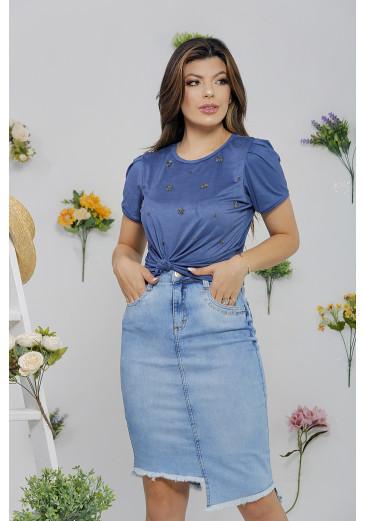 T-shirt Suede Azul Victoria's Princess