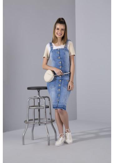 Salopete Jeans Botões Outono/Inverno 2021
