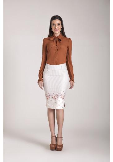 Camisa em Crepe Laura Rosa Outono/Inverno 2021