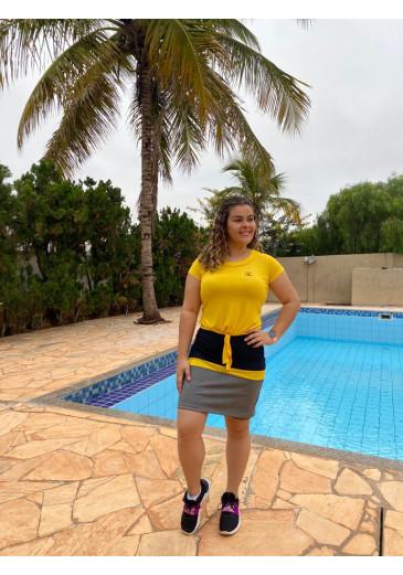 Conjunto Fitness Tricolor Amarelo Gabi Campos