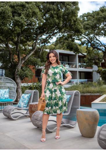Vestido Antonella Em Viscose Verde Boutique K Primavera/ Verão 2022