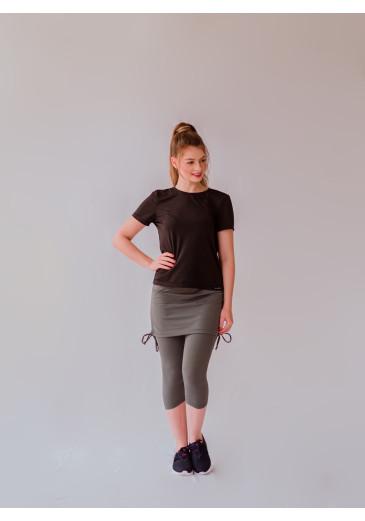 Saia com Corsário Regulagem Cinza Sra & Srta Moda Fit