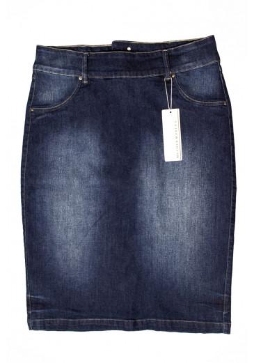 Saia Jeans Classic Mulher Morena Primavera/Verão 2021