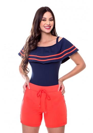 Shorts Poliamida Laranja Hapuk Primavera/Verão 2021