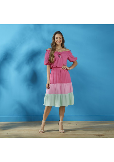 Vestido Magnólia  Pink Tatá Martello Primavera/ Verão 2022