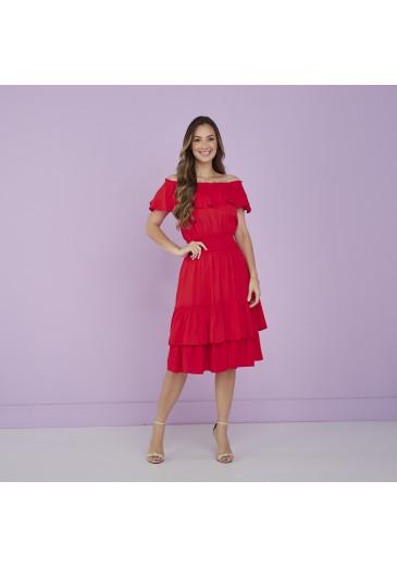 Vestido Celina Vermelho Tatá Martello Alto Verão 2022