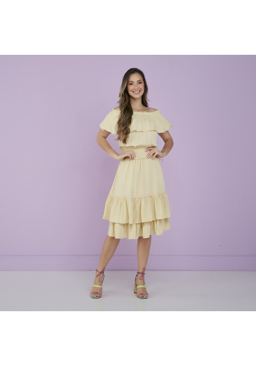 Vestido Celina Amarelo Tatá Martello Alto Verão 2022