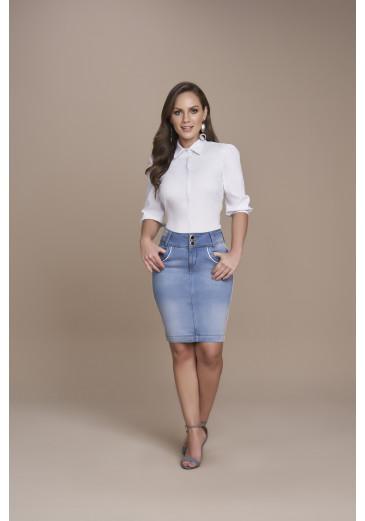 Camisa Tricoline Branca Titanium Jeans Outono/Inverno 2021