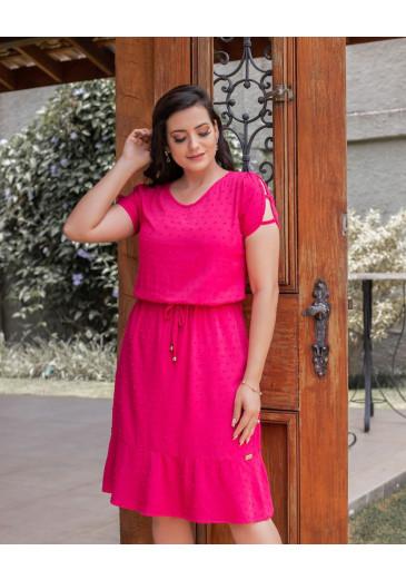 Vestido com Cordão Pink Maria Amore Primavera/Verão 2021