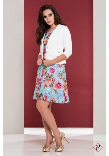 Vestido Puro Sharmy Floral Azul 12305