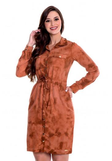 Vestido Tie Dye Telha Hapuk outono/Inverno 2021
