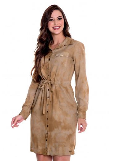 Vestido Tie Dye Caramelo Hapuk outono/Inverno 2021