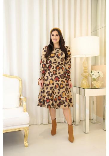 Vestido Antonela Animal Print  Outono/Inverno 2021