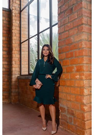 Vestido Erica Verde Boutique K Outono/Inverno 2021