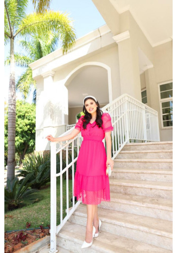 Vestido Julieta Rosa Primavera/ Verão 2022