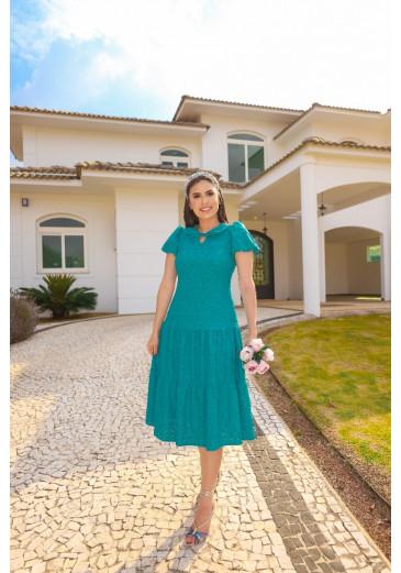 Vestido Elsa Azul Primavera/ Verão 2022