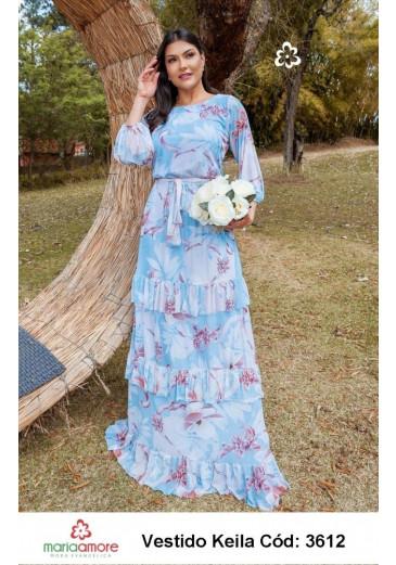 Vestido Keila Floral Maria Amore Primavera/ Verão 2022
