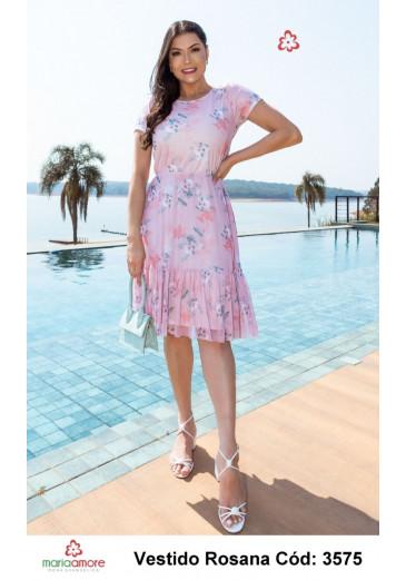 Vestido Rosana em Tule Maria Amore Primavera/ Verão 2022