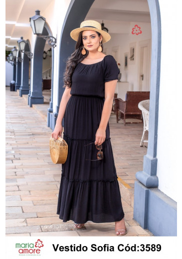 Vestido Sofia Longo Maria Amore Primavera/Verão 2022