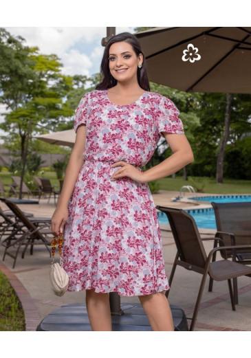 Vestido Silmaya em Viscose Maria Amore Primavera/Verão 2022