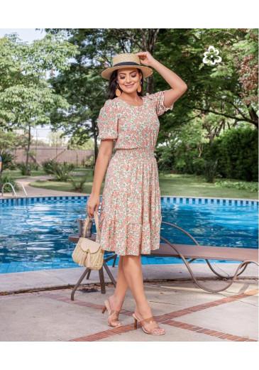 Vestido Jaqueline Estampado Maria Amore Primavera/Verão 2022