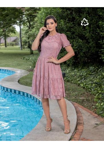 Vestido Natali em Renda Rosa Maria Amore Primavera/Verão 2022