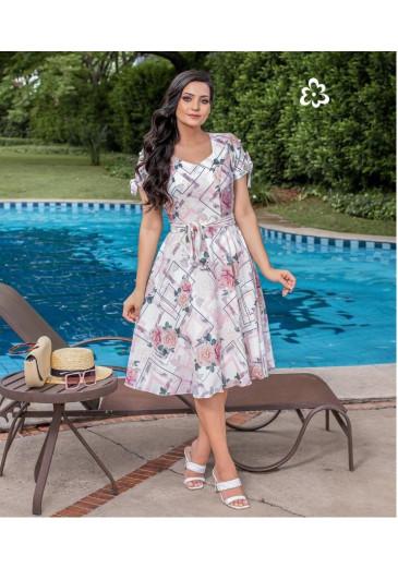 Vestido Leda Floral Maria Amore Primavera/Verão 2022