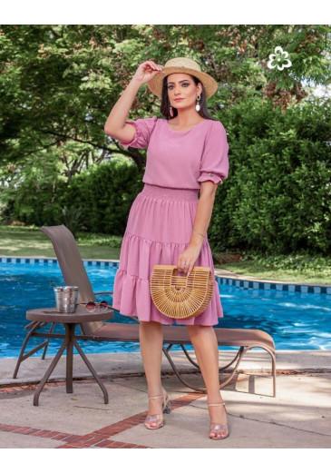 Vestido Alana em Crepe Maria Amore Primavera/Verão 2022