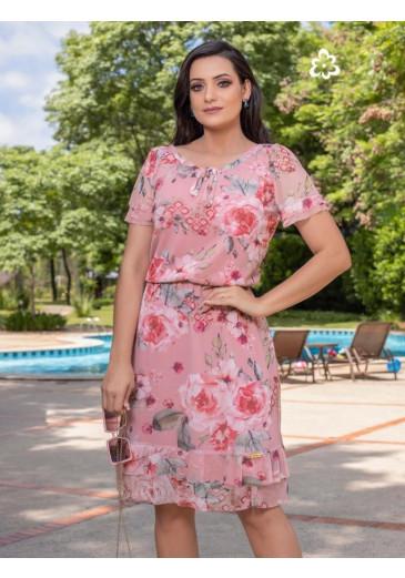 Vestido Lola Estampa Floral Maria Amore Primavera/Verão 2022