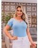 Blusa-Tule-Rendado-Azul-Raje-Jeans-estrela-evangélica