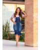 Salopete Jeans Detalhe Trançado Joyaly