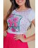 T-shirt Estampa Flor Victoria's Princess
