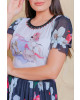 T-shirt Manga Tule Floral Victoria's Princess