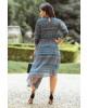 Vestido Assimétrico Cinza Kauly