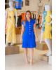 Vestido Bengaline Azul Joyaly