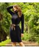 Vestido Canelado Gola Alta Via Tolentino