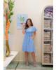 Vestido Ciganinha Listrado Azul Boutique k