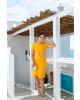 Vestido com Babado Amarelo Joyaly
