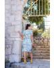 Vestido com Babado Azul Boutique K