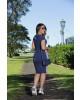 Vestido com Detalhe em Suede Luciana Pais