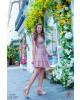 Vestido Detalhe Guiper Rose Puro Sharmy