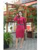 Vestido Duo Color Vermelho Kauly