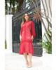 Vestido em Renda Luxo Vermelho Kauly