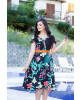 Vestido Estampado Floral Preto Raje Jeans