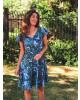 Vestido Folhagem com Babado Clara Rosa