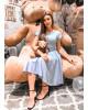 Vestido Godê com Cinto Azul Joyaly